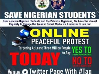 #SaveNigerianStudents : Nigerian students protest on Twitter over school reopening