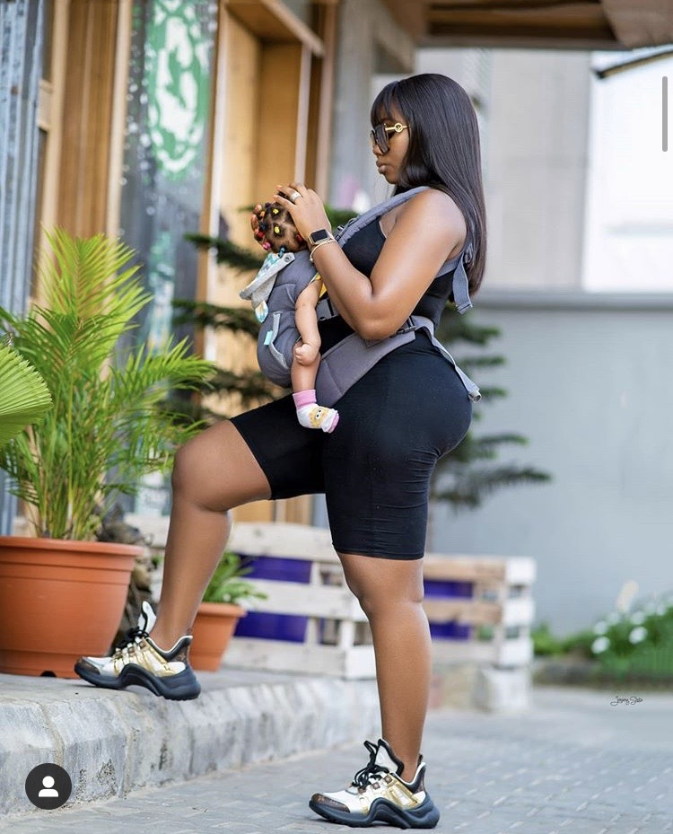 Reality TV star, BamBam shares lovely photos of herself and her baby