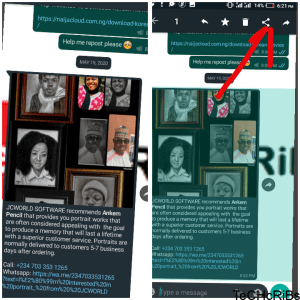 How to forward image on whatsapp without loosing it caption