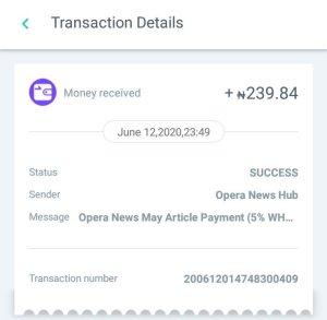 Make money writing - Opera payment