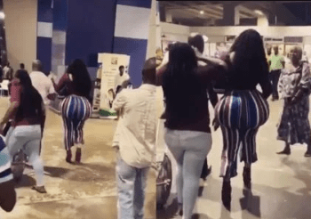 Woman With Huge Backside Causes Commotion At Kotoka International Airport, Ghana