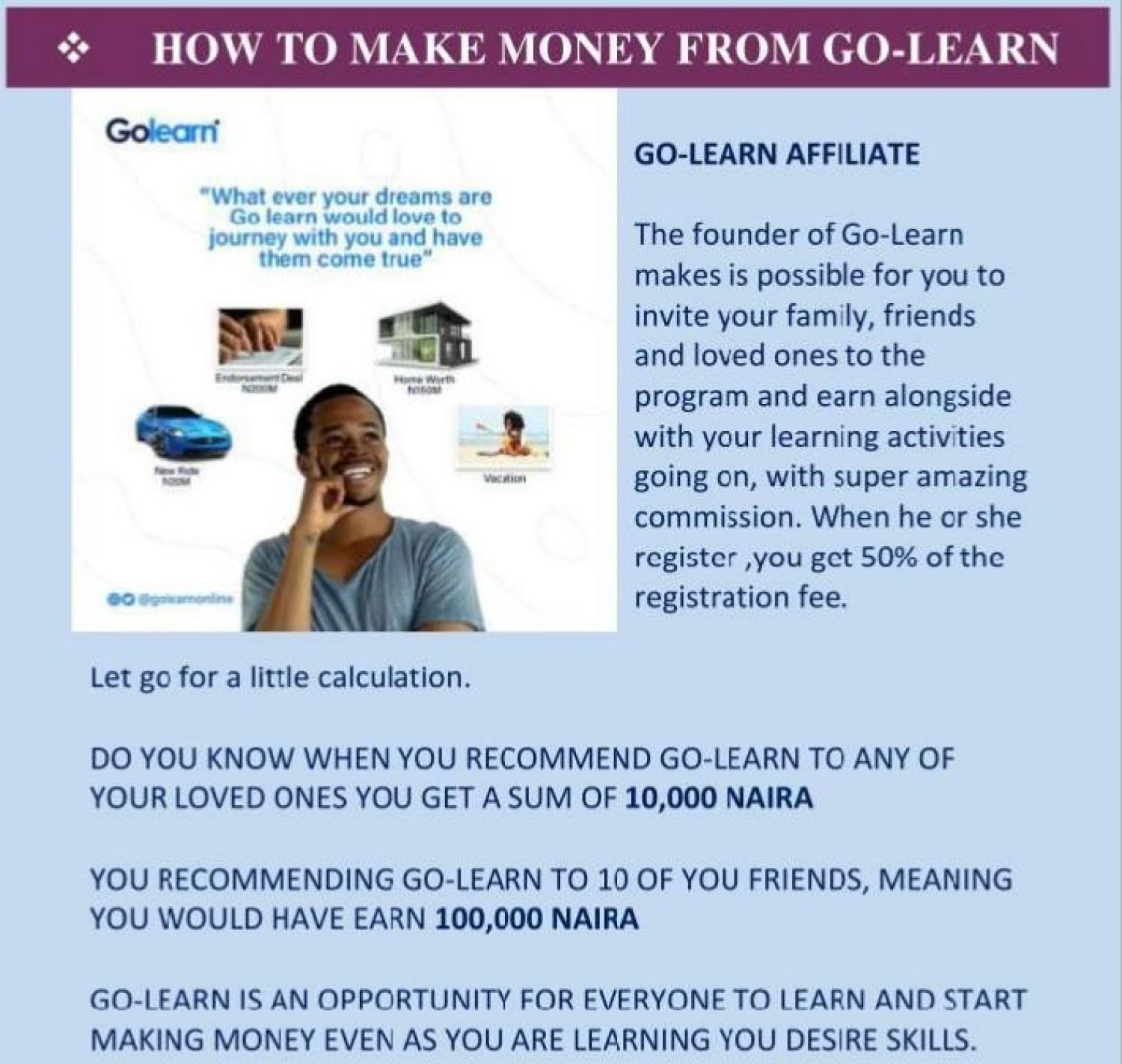 How To Make Money On GOLEARN