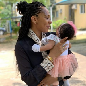 """BBNaija Star """"T Boss"""" Steps Out With Her Daughter As They Go For Church Service"""