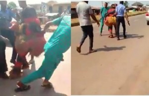 An interesting video has emerged on social media showing the moment a masquerade got arrested by the police. The video which has gone viral on social media, has gotten many Twitter users quite amused.
