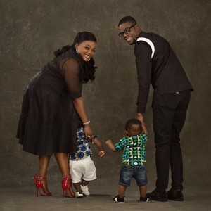 Nigerian actress, Funke and husband, JJCSkillz are in a happy mood as they celebrate the birthday of their twin boys. Actress Funke Akindele and husband, JJCSkillz are celebrating the first birthday of their twin sons.