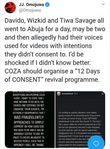 Just like Davido, Tiwa Savage and Wizkid have called out Pastor Biodun Fatoyinbo's COZA church over a fraudulent video advert, aimed at promoting their '12 Days Of Glory' January Programme, which features them without their permission.