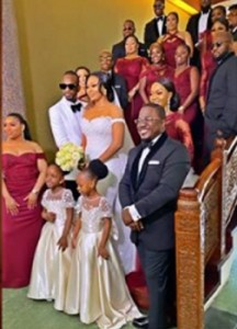 Veteran musician, 9ice has finally walked his woman, Olasunkanmi to the ailse in a ceremony attended by family and friends. Nigerian singer 9ice has held his white wedding with baby-mama, Olasunkanmi.