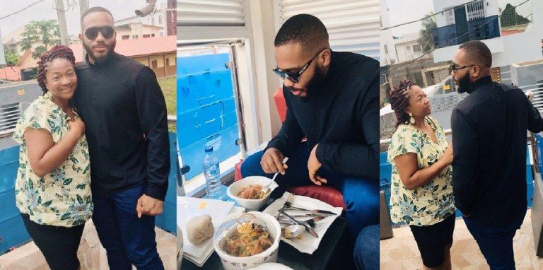 Kiddwaya meets his mum who just arrived from the UK (Photos)