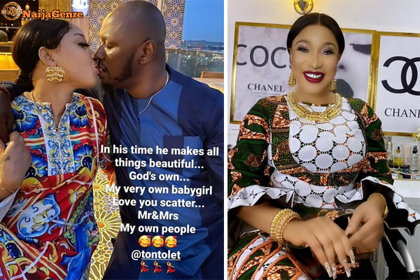 Tonto Dikeh Unfollows Prince Kpokpogri On Instagram, Indicating That She Is Cheating On Him