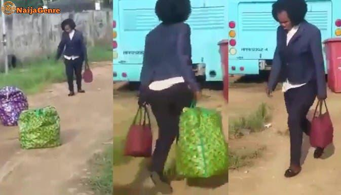 A Nigerian Woman Who Is About To Travel Overseas Becomes Madness