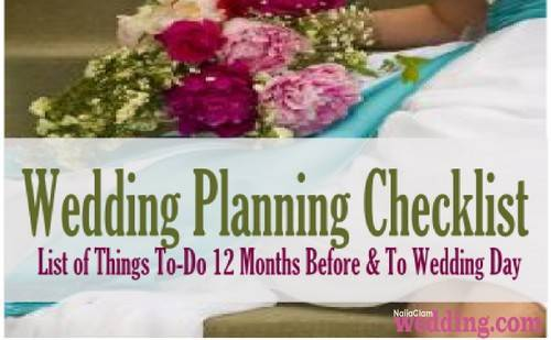 12 month wedding checklist NGW