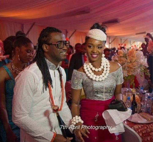 igbo man and wife during their traditional engagement (igba nkwu) day