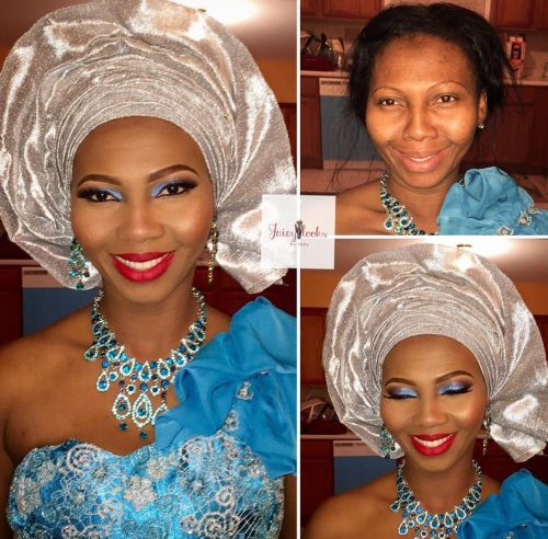 ibo bride in before and after makeup