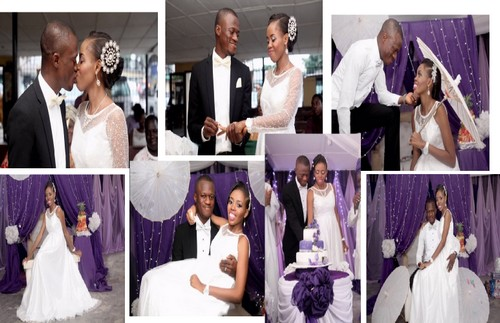 photoshoot of couple at white court wedding nigeria - pictures