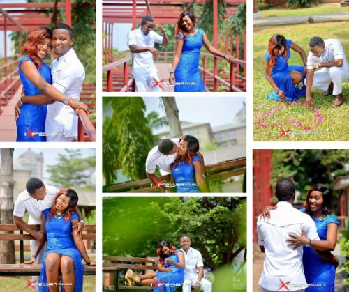 couple in engagement photo shoot blue white theme