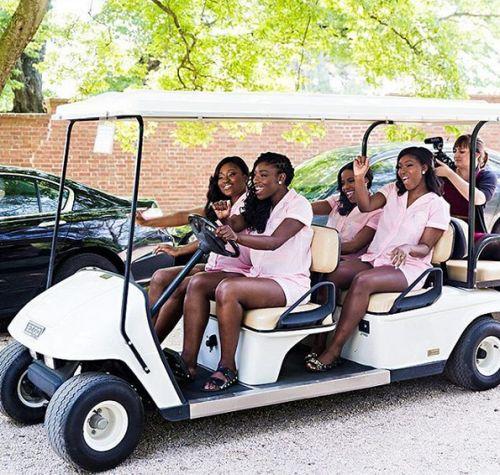 wedding car transporting bride to church