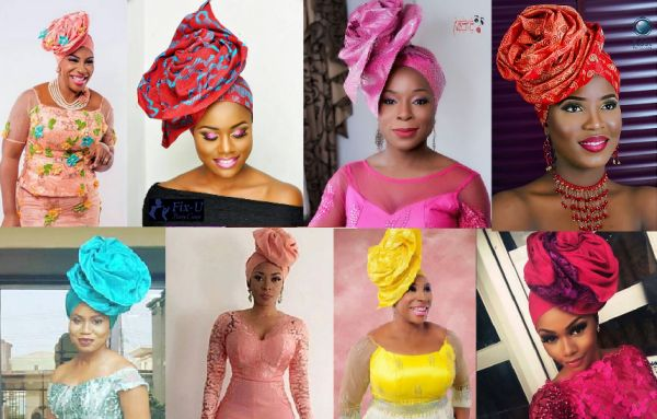 Picture -women in Iconic Rose Ascot Gele invented by Abeke (avant Garde Gele) Makeovers