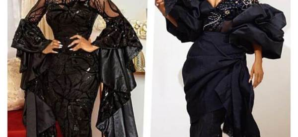 images of toke makinwa's iro and buba celebrity styles