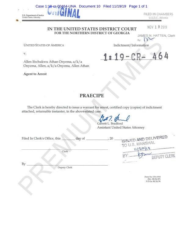 Air Peace boss, Allen Onyeama arrest warrant issued by U.S Court (Photo)