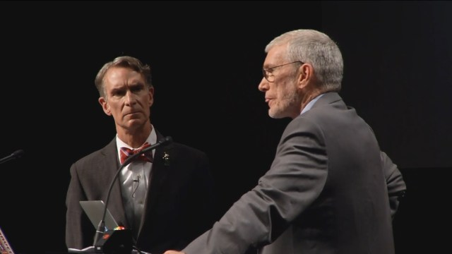 Climate: Ken Ham and Bill Nye during a debate