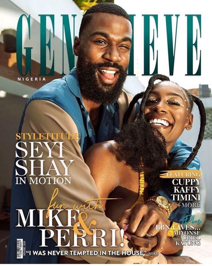 BBNAIJA Mike And Wife Perri Edwards