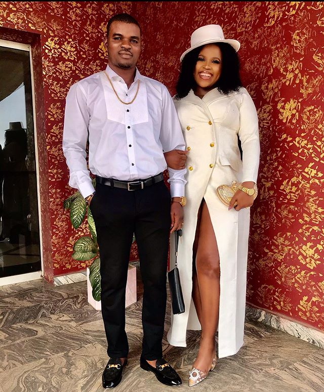Actress Chioma Chijioke and her husband