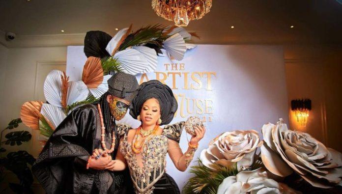 Fashionista, Toyin Lawani ties the knot with fiancé, Segun Wealth (Video)