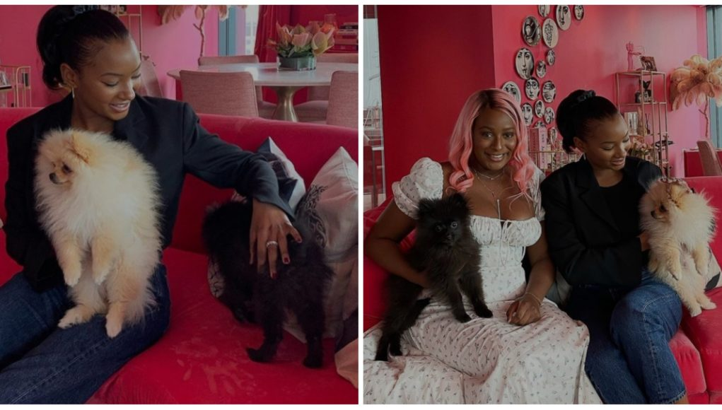 Temi Otedola shares lovely pictures with DJ Cuppy