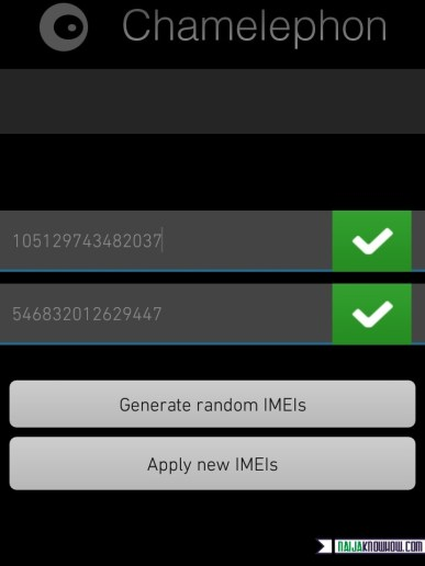 Change IMEI on Marshmallow 6.0 via Chamelephon
