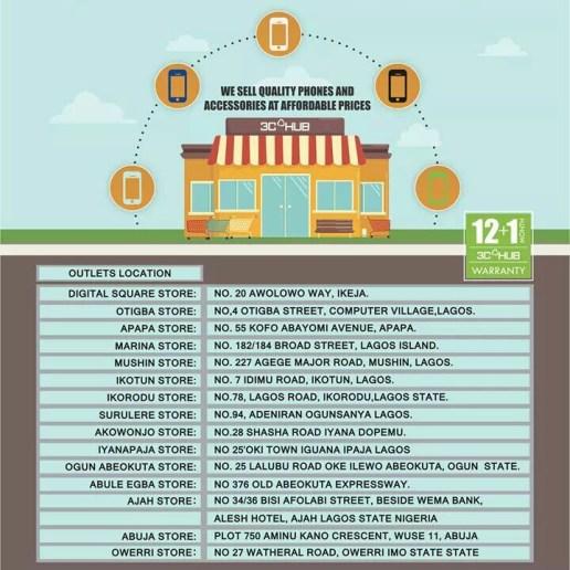 3C HUB stores in Nigeria