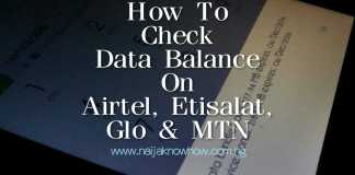 How To Check Data Balance In Nigeria (Airtel, 9Mobile, Glo And MTN)
