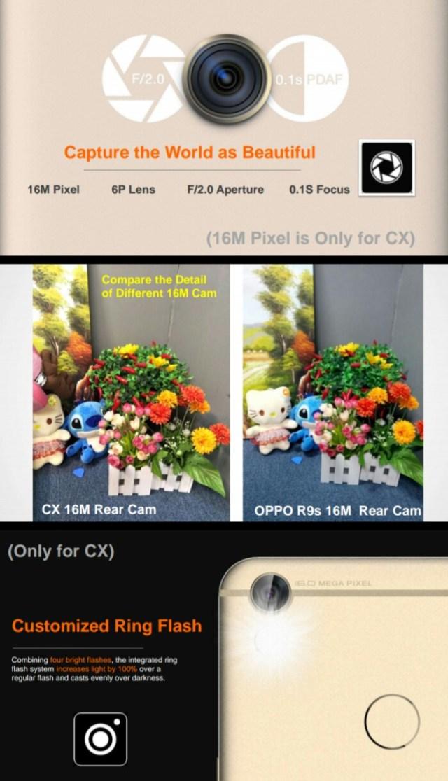 Tecno Camon CX vs Oppo – Rear camera