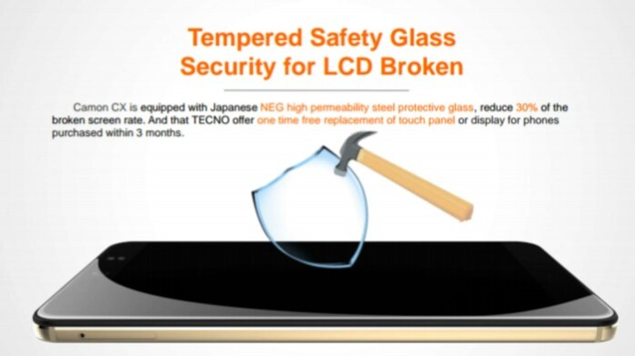 TECNO Camon CX and Camon CX Body – Tempered Safety glass
