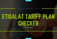 How to check Etisalat tariff plan in Nigeria