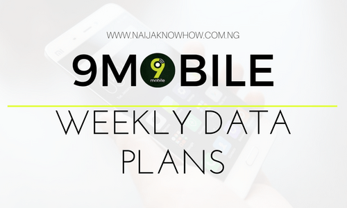 9MOBILE WEEKLY DATA PLANS