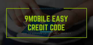 How to Borrow Credit from 9Mobile Easy Credit (Code)