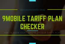 How to check 9Mobile tariff plan in Nigeria