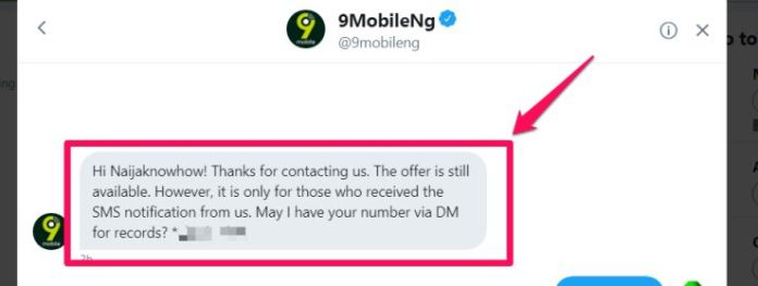 9mobile 1gb for 200 is still working