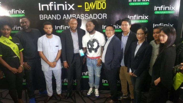 Infinix signs davido as ambassador