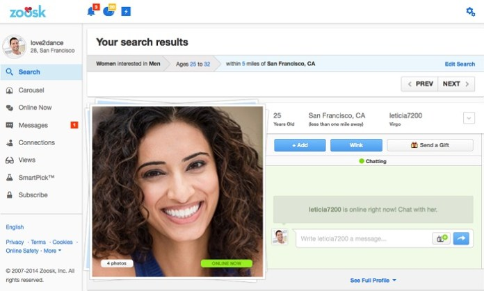 Zoosk profile disappeared - niccompblogop