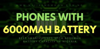 PHONES WITH 6000MAH BATTERY CAPACITY IN NIGERIA