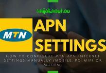MTN APN SETTINGS (ACCESS POINT NETWORK)