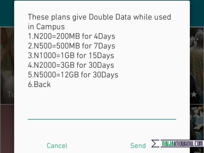 Glo Data Plans (campus booster)