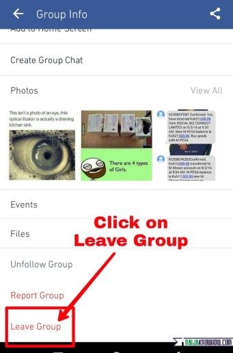 leave Facebook group permanently