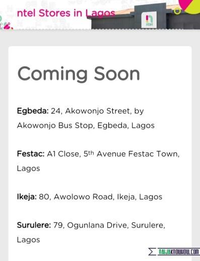 NTEL stores in Lagos