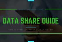 how to share data on glo mtn etisalat airtel in nigeria
