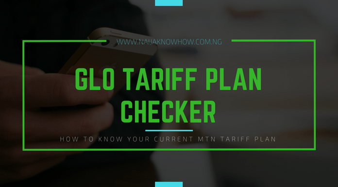 How to check Glo tariff plan in Nigeria