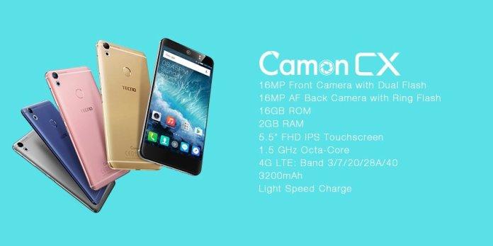 TECNO Camon CX – Key Specs