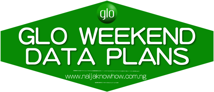 GLO WEEKEND DATA PLAN AND SUBSCRIPTION CODE FOR BROWSING AND STREAMING