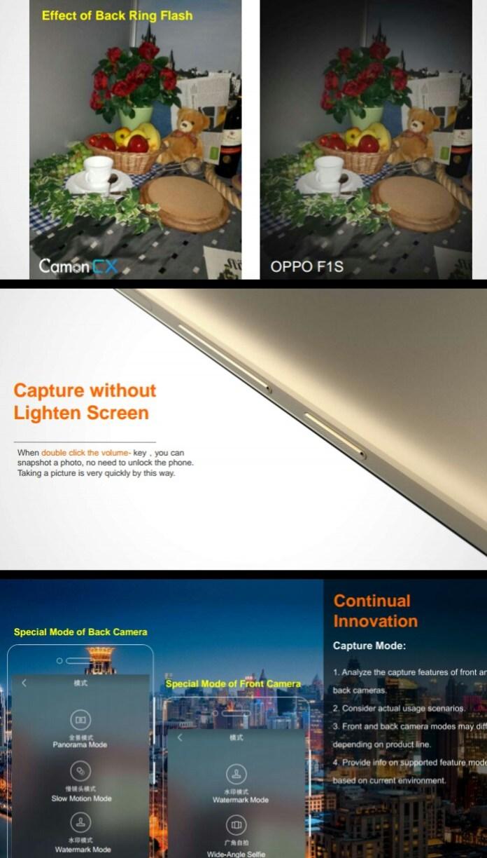 TECNO Camon CX Camera